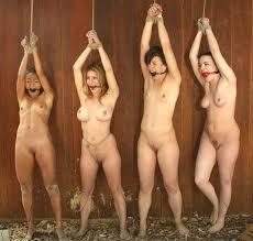 Bondage naked hands tied