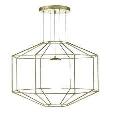 gold geometric lamp geometric ceiling light decorative geometric ceiling pendant in old gold with opal glass gold geometric lamp