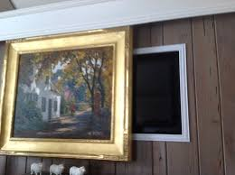 Hide your tv Giant Hide Your Tv With Beautiful Artwork Thehomecomau Hide Your Tv With Beautiful Artwork Interior Design Delaware