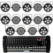 led stage lighting kit with 8 rgb stage wash led lights 6 rgbw spotlights
