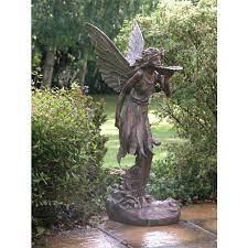 large standing fairy garden sculpture