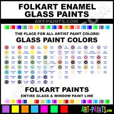 Folk Art Paint Color Chart Folkart Enamels Glass And Window Paint Colors Stains Inks