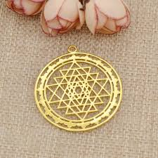 1pc sri yantra sacred geometry pendant