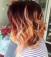 Hair Makeup Bold Red Copper Ombre