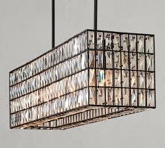 adeline crystal rectangular chandelier