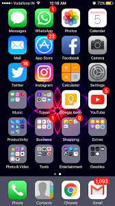 Organize apps on iphone