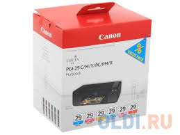 <b>Картридж Canon PGI</b>-<b>29</b> CMY/PC/PM/R Multi комплект — купить ...