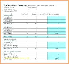 Free Profit And Loss Statement Template Cool Profit And Loss Statement Excel Pl Template 48 Statements Free