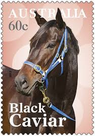 postage stamp australia s own champion racehorse black caviar
