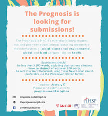 Deadline Paper Submissions For The Prognosis Global Health