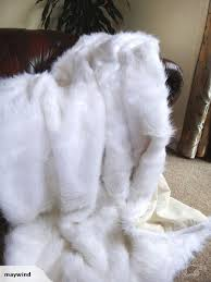 white faux fur throw. Delighful Faux Intended White Faux Fur Throw X