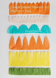 Making Flower Using Crepe Paper Crepe Paper Flowers For Mothers Day The Art Of Simple