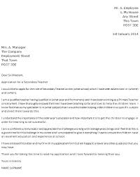 Cover Letter For The Post Of Physical Education Teacher