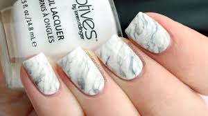 PackAPunchPolish: White Marble Nail Art with Tutorial