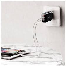 <b>Зарядное устройство Baseus Mirror</b> Lake | 3 USB | 3.4A | С ...