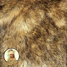 details about faux wolf skin accent pelt rug coyote throw rectangle premium faux fur