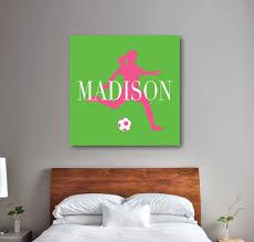 Personalized Bedroom Decor Custom Soccer Player Canvas Monogrammed Girls Name Shop Wunderkinds