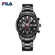 fila 2017. fila 2017 luxury brand fashion stainless steel leather strap 3 timer circles dial quartz men watch