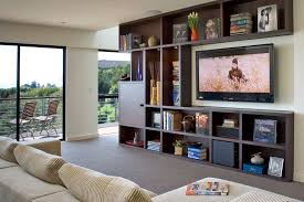 entertainment centers for flat screen tvs family room contemporary with balcony bookcase bookshelves cubbies entertainment center media