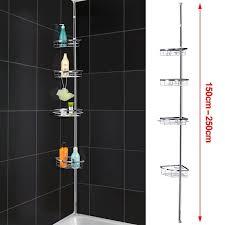 Telescopic Shower Corner Shelves Popamazing Quality Telescopic 41 Tier Bathroom Shower Rack Corner 1