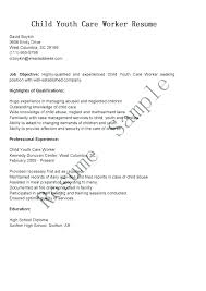 Care Worker Resume Child Care Resume Sample Yuriewalter Me