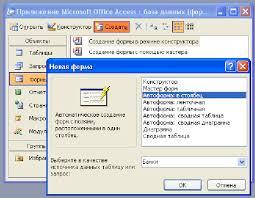 Введение В результате будет автоматически создана требуемая форма В данной курсовой работе все формы для ввода данных имеют тип Автоформа в столбец Рис 11