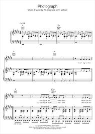 ed sheeran sheet music photograph piano sheet music by ed sheeran piano voice guitar rhm