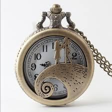 nightmare before quartz pocket watch og pendant necklace mens womens gifts relogio de bolso watches