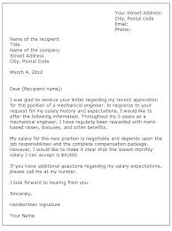 sample cover letter salary requirements salary in cover letter resume with salary history cover letter with