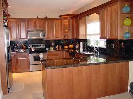 kitchen backsplash cherry cabinets black counter. Kitchen Backsplash Cherry Cabinets Black Counter Photo - 7 B