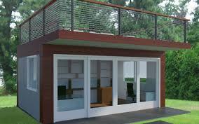 prefabricated garden office. Garden Office With Roof Deck Prefabricated