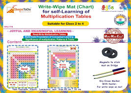 Write-Wipe Mat (Chart) for self-Learning of Multiplication Tables ...