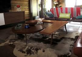 image of brindle cowhide rug living rooms