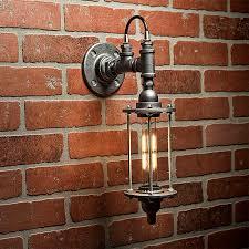 industrial lighting bathroom. Industrial Lighting - Pipe Sconce Light Steampunk Bathroom Wall FREE SHIPPING