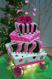 Mad Hatter Cake Designs Hot Pink Lime Green Wedding Cake Sometimes Called A Mad
