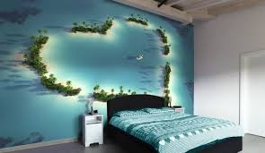 Charming Ocean Wallpaper For Bedroom Photo   1