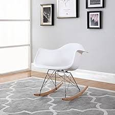 eames inspired rocking chair. Brilliant Chair Modern Set Of 2 EAMES Style Rocking Armchair Natural Wood Legs In Color  White Black On Eames Inspired Chair Y