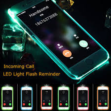 Call Flash Light In Iphone Led Flash Light Up Remind Incoming Call Cover Case Skin For