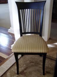 black wood dining chair. Retro Striped Pattern Cushioned Seat Black Wooden Dining Chair Of .. Wood