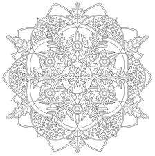 Mandala 737 Creative Haven Snowflake Mandalas Coloring Book Dover