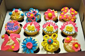 Edible Floral Fondant Cupcake Idea With Strawberry Fondant Cupcake