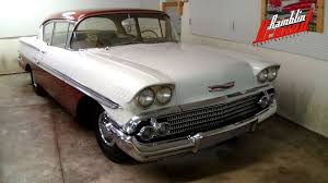 1958 Chevrolet Biscayne 235 Inline Six 3 Spd Manual - YouTube