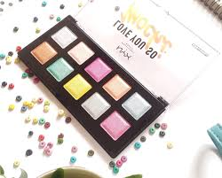 eyeshadow nyx professional makeup love you so mochi eyeshadow palette electric pastels