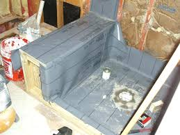 shower membrane installation large size of shower pan liner instructions repair kit and drain shower pan