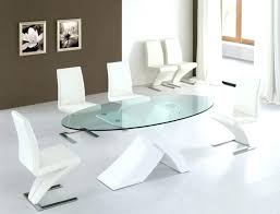 modern white gloss dining table and chairs leather room contemporary appe excellent