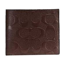 harga coach compact id signature embossed leather wallet dompet pria terbaru