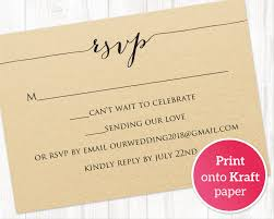 Rsvp Card Printable Template Wedding Templates And