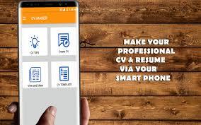 Job Cv Maker Resume Maker Android Apps On Google Play