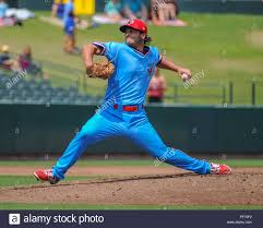 August 19, 2018: Memphis pitcher, Austin Warner (73), in action during the  Pacific Coast League Triple-