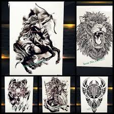 Nové řecké Mytologii Kentaur Dočasné Tetování Střelec Design Paži